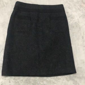 Boden wool mini skirt 6L charcoal w/blk trim